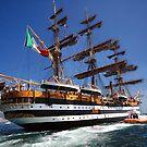Tall ships 7 Amerigo Vespucci by Monica Di Carlo