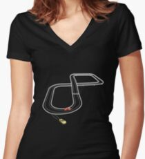 Getting off track Women's Fitted V-Neck T-Shirt