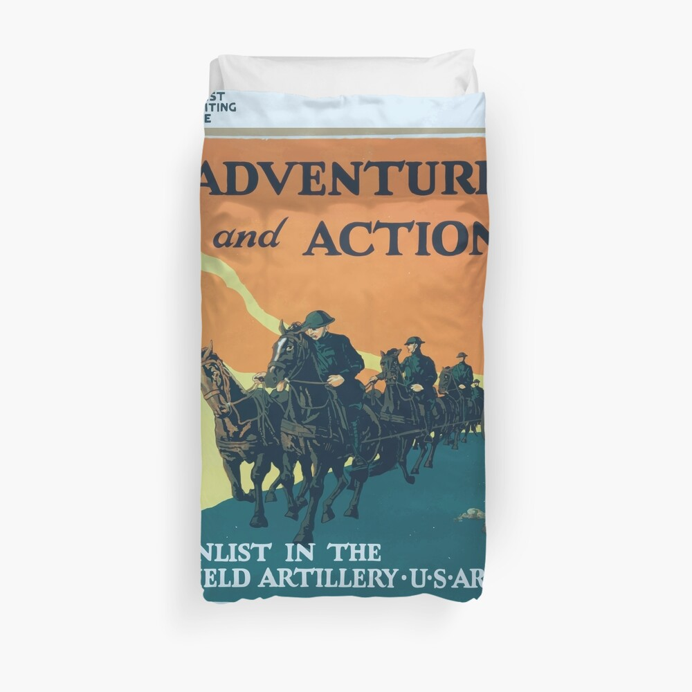 Adventure and action Enlist in the field artillery US Army Bettbezug