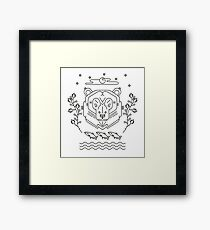 Scandinavian Bear Framed Print