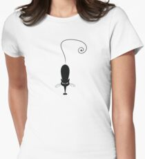 Black cat silhouette Women's Fitted T-Shirt
