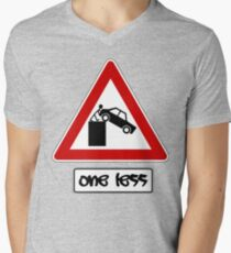 One less to worry about Mens V-Neck T-Shirt