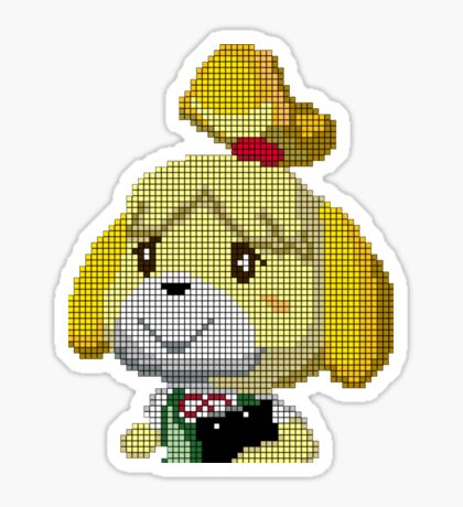 Animal Crossing pixel Isabelle  Sticker