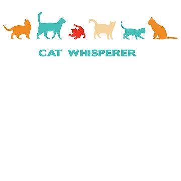 Cat Whisperer - retro colours by MazzaLuzza