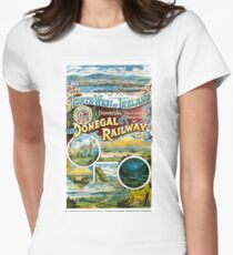 Ireland Donegal Railway Restored Vintage Poster Women's Fitted T-Shirt