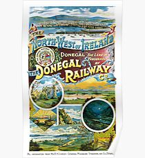 Ireland Donegal Railway Restored Vintage Poster Poster