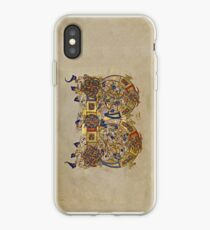 Inhabited Initial B of a Breviary from Montecassino (1153 AD) iPhone Case