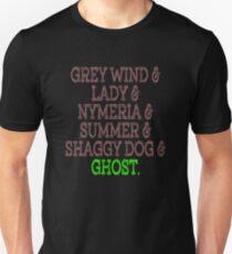 Grey Wind & Lady & Nymeria & Summer & Shaggy Dog & Ghost Unisex T-Shirt