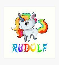 Rudolf Unicorn Art Print