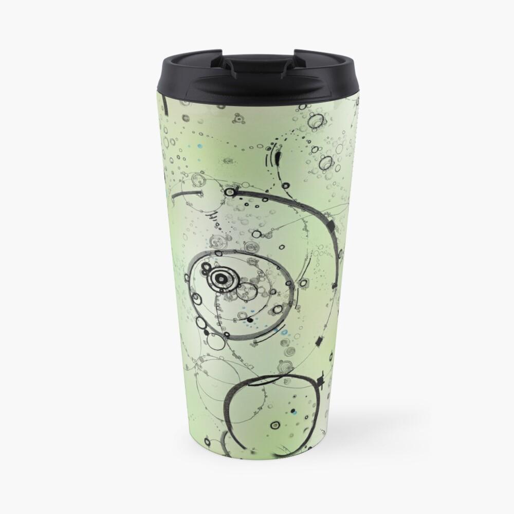 paths - soft green Travel Mug