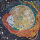 Resting Moon Oracle Card design by Abi Latham