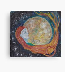 Resting Moon Oracle Card design Canvas Print