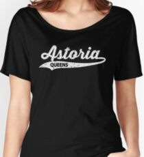 Astoria Queens T-shirt : Retro Queens Vintage NYC Tee  Women's Relaxed Fit T-Shirt