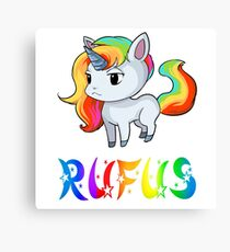 Rufus Unicorn Canvas Print