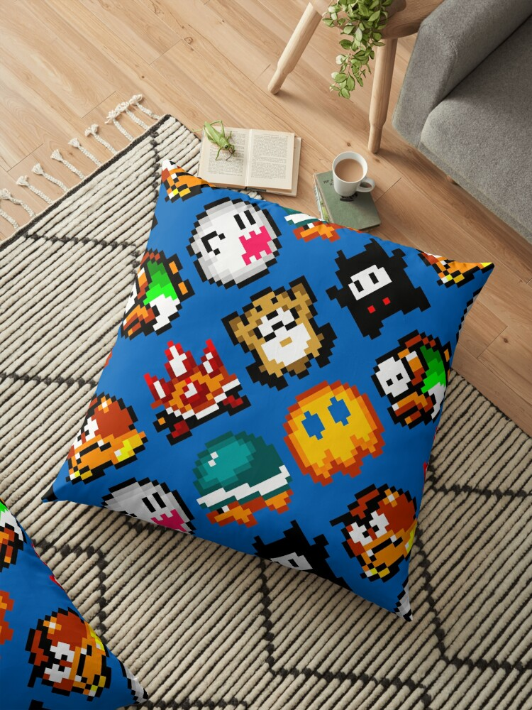 Super Mario World / enemies pattern / blue by geekeeg