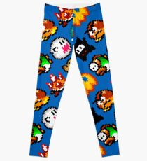 Super Mario World / enemies pattern / blue Leggings
