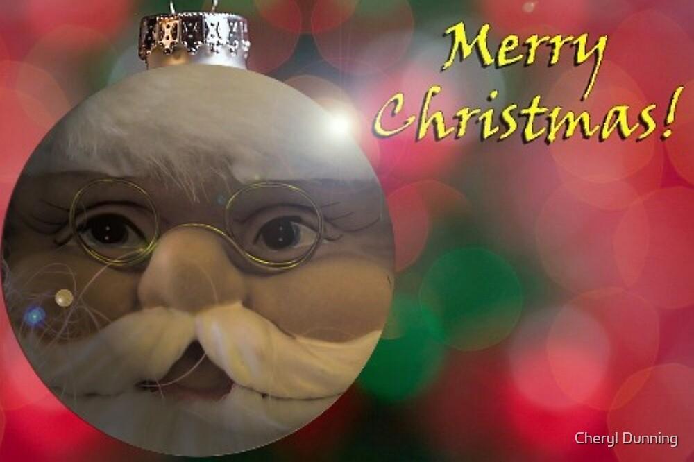 santa ornament by Cheryl Dunning