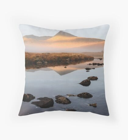 Sunrise over the Black Mount Throw Pillow