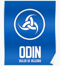 Odin, Ruler of Asgard - Norse God Poster