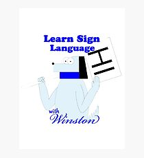 Learn Sign Language  Photographic Print