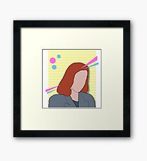 80s scully | x files Framed Print