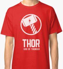 Thor, God of Thunder, Norse Gods Classic T-Shirt