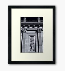 Lancaster, Church Street Facade Framed Print