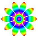 Rainbow Flower Design by fantasytripp