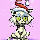 Kitten in Christmas Hat by Kevin Middleton