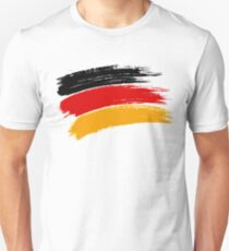 DEUTSCHLAND PINSELSTRICHE. GERMANY BACK, RED, YELLOW PAINT BRUSHES Unisex T-Shirt