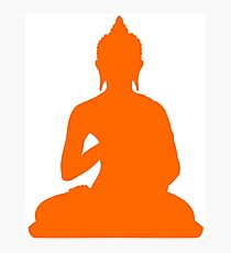 Le buddha orange Photographic Print