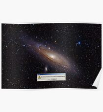 GNF Andromeda Galaxy (mit h-alpha) Poster