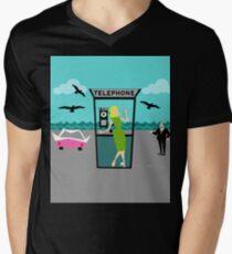 Retro Horror Movie Starle Men's V-Neck T-Shirt