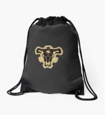 Black Bulls Drawstring Bag