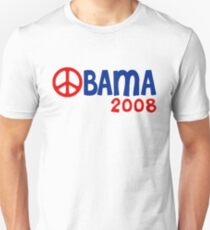 Obama 2008 Peace Sign Unisex T-Shirt