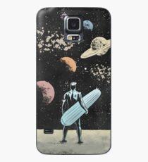 Silberner Surfer Hülle & Klebefolie für Samsung Galaxy
