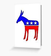 Democratic Donkey Greeting Card