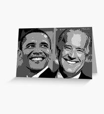 Obama Biden Greeting Card