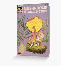 Mushroom Book Cover Greeting Card