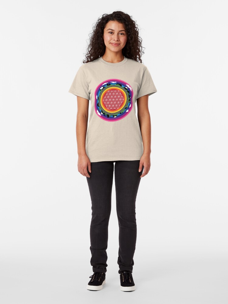 Alternate view of Flower Planet (round) Classic T-Shirt