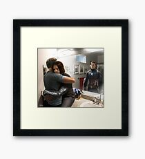 What you see in the mirror Framed Print