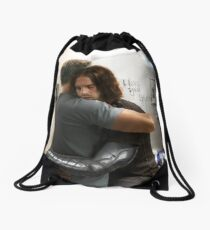 What you see in the mirror Drawstring Bag