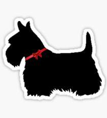 Christmas Scottie Dog Sticker