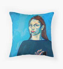 Check Yourself (self portrait) Floor Pillow