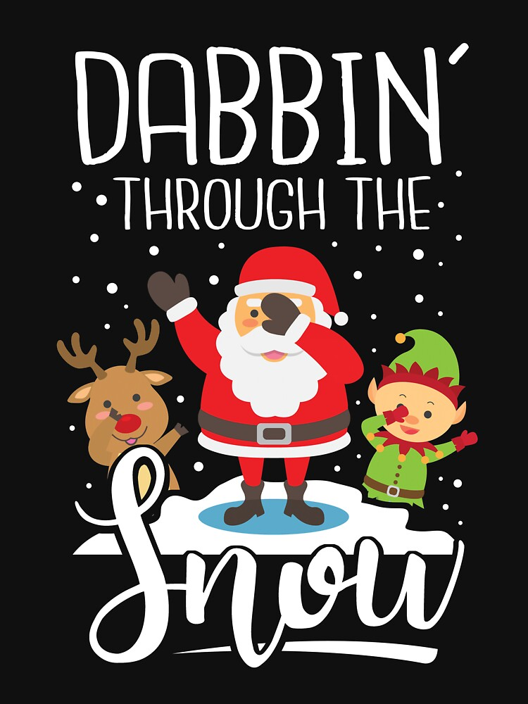 dabbing santa dab elf rentier dabbing through the snow funny christmas sweater as a