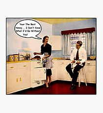 Kitchen Talk Photographic Print