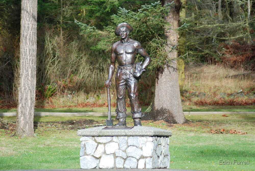 The C.C.C. Worker Statue  by Edith Farrell