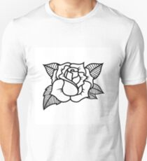 Tattoo style rose illustration Unisex T-Shirt
