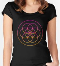 Psychedelic Sacred Geometry Women's Fitted Scoop T-Shirt