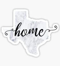 Texas Home Marble Sticker Sticker